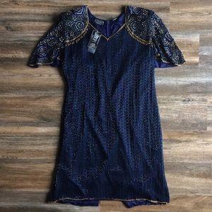 Jakelin • vtg beaded/sequined NWT dress